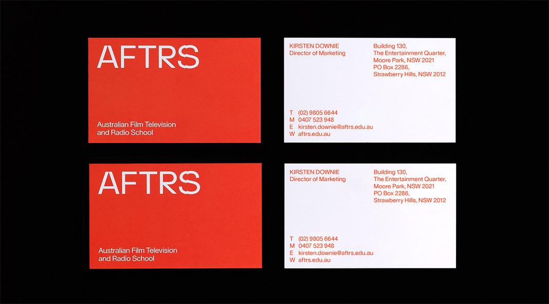 AFTRS branding by international design consultancy M35.