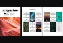 Adobe InDesign magazine template by Tom Sarraipo.