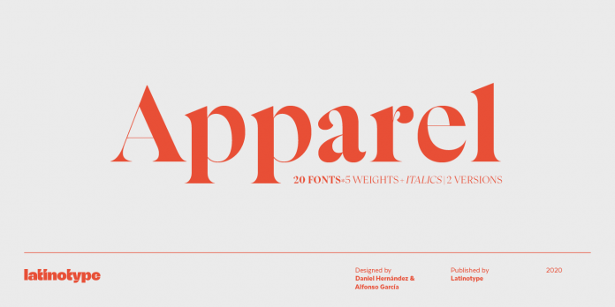 Apparel font family by Latinotype