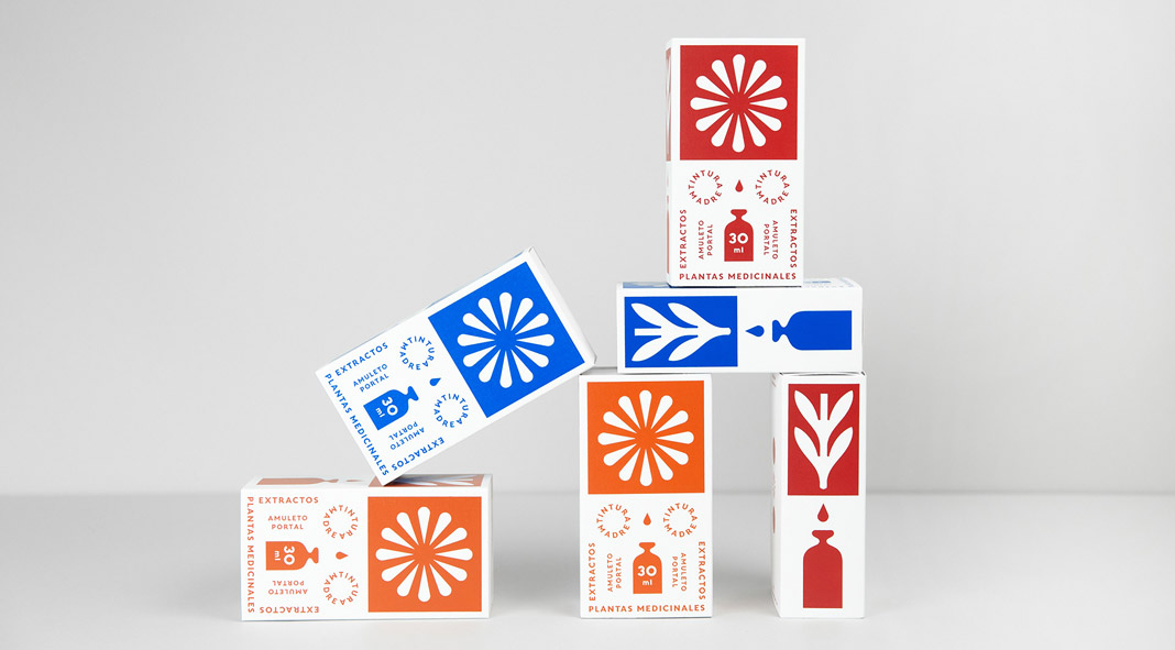 Brand and Packaging design by studio Un Barco for Amuleto Portal