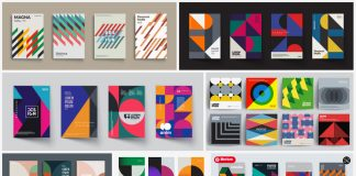 Download minimalist vector graphics inspired by Swiss graphic design.
