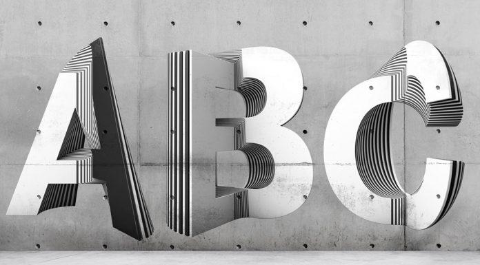 Experimental 3D Typography by Txaber Mentxaka