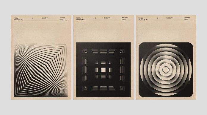 Form research by Fatih Hardal based on geometric shapes.
