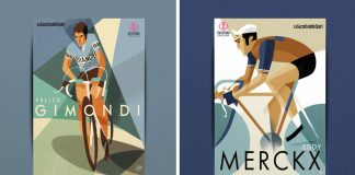 Hall of Fame Giro d'Italia illustrations by Riccardo Guasco