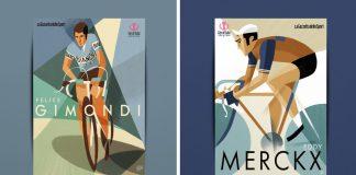 Hall of Fame Giro d'Italia illustrations by Riccardo Guasco