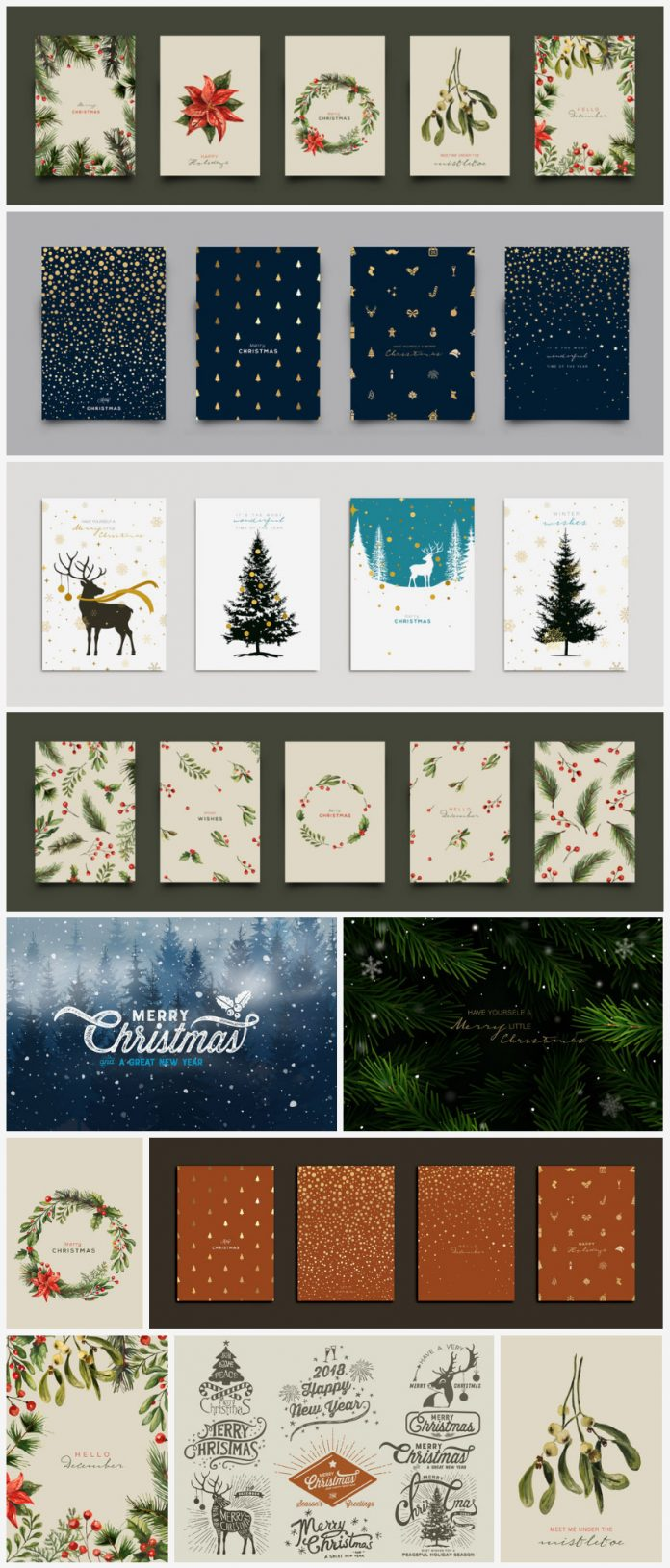 Holiday and Christmas Vector Illustrations