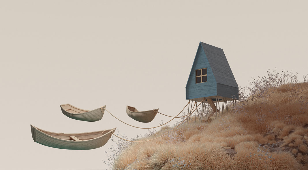 Nothingness: digital 3D illustrations by Murat Yıldırım