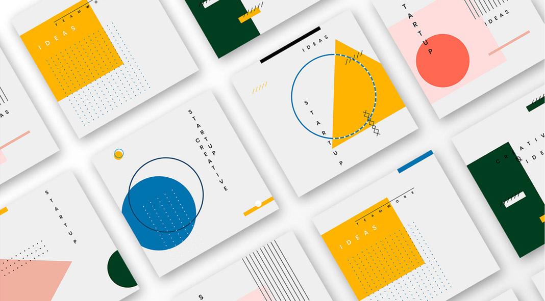 Bauhaus-Inspired Social Media Post Templates