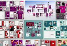 These stationery and branding templates are available as fully editable vector graphics on Adobe Stock.