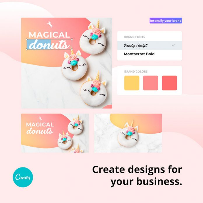 With Canva Pro you can create designs for your business