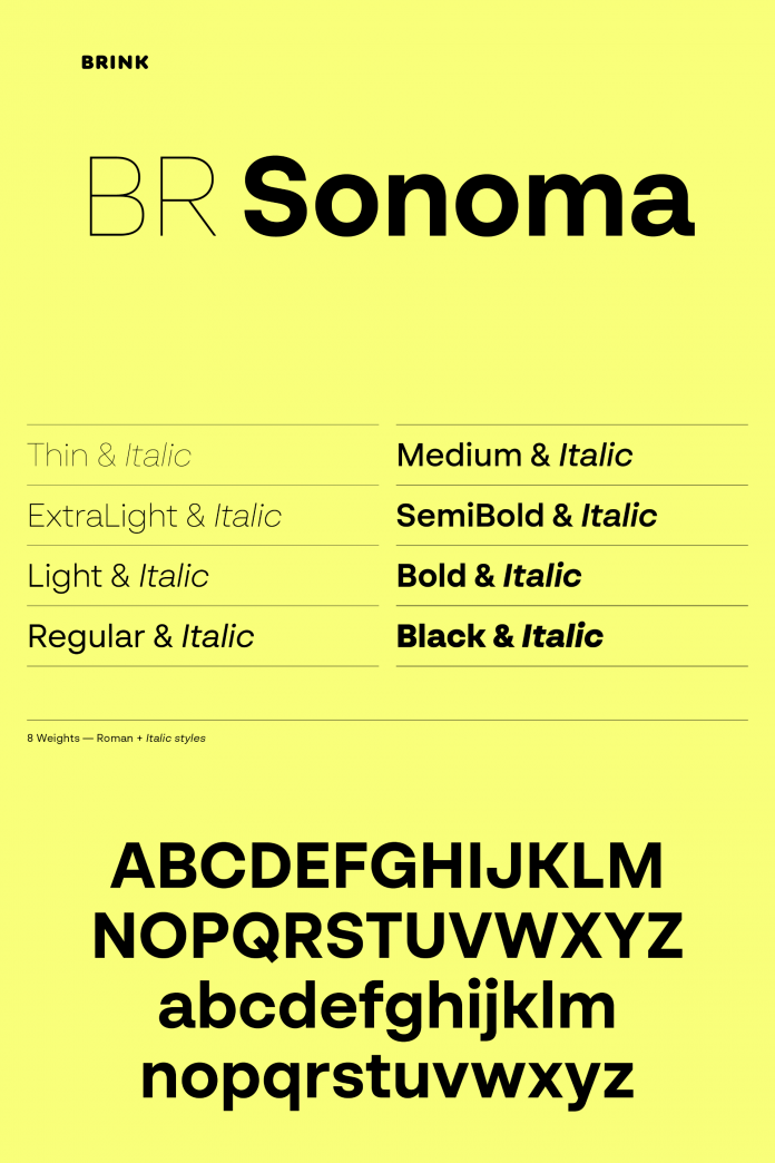 BR Sonoma font family by Brink Type
