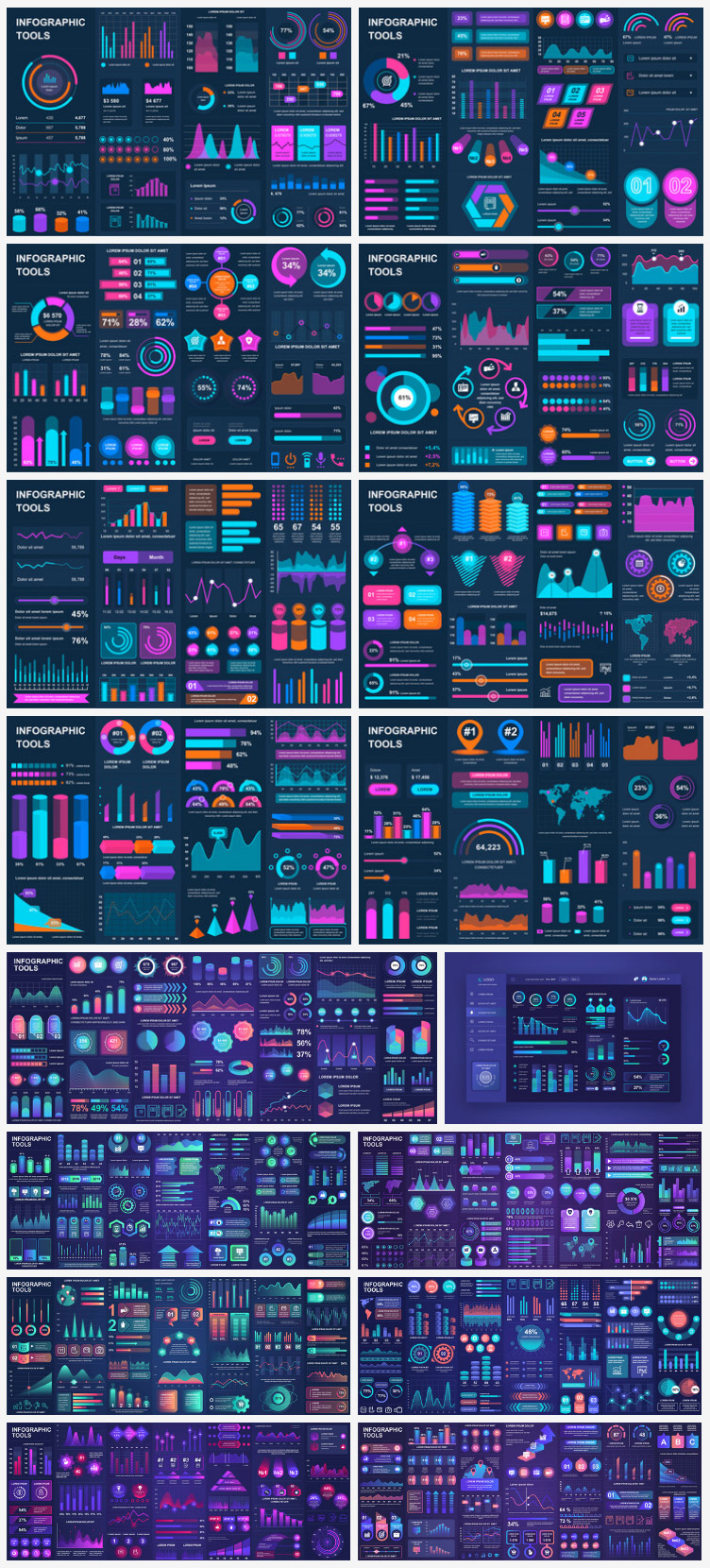 Infographic & Dashboard Vector Templates