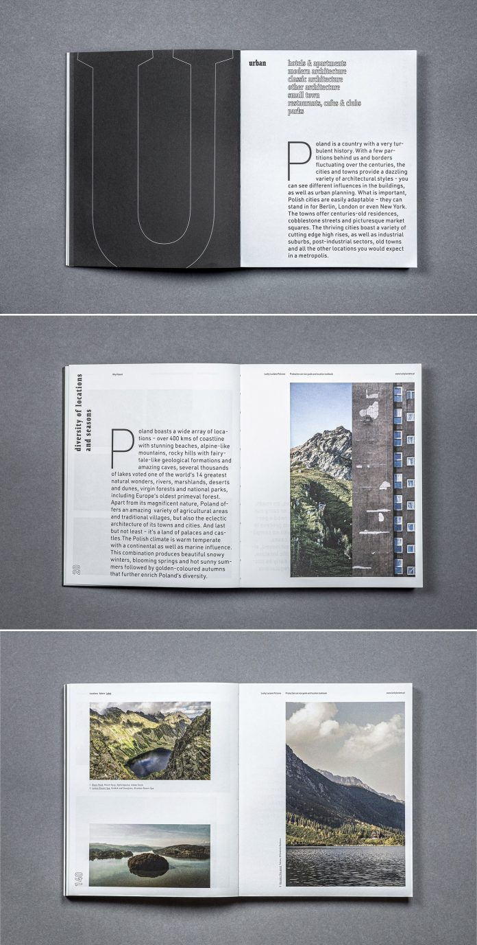 Production service guide and location look-book with art direction and graphic design by Michał Markiewicz.