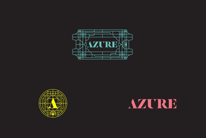 Azure Hostel brand and graphic design by Wide & Narrow