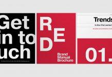 Brand manual InDesign template.