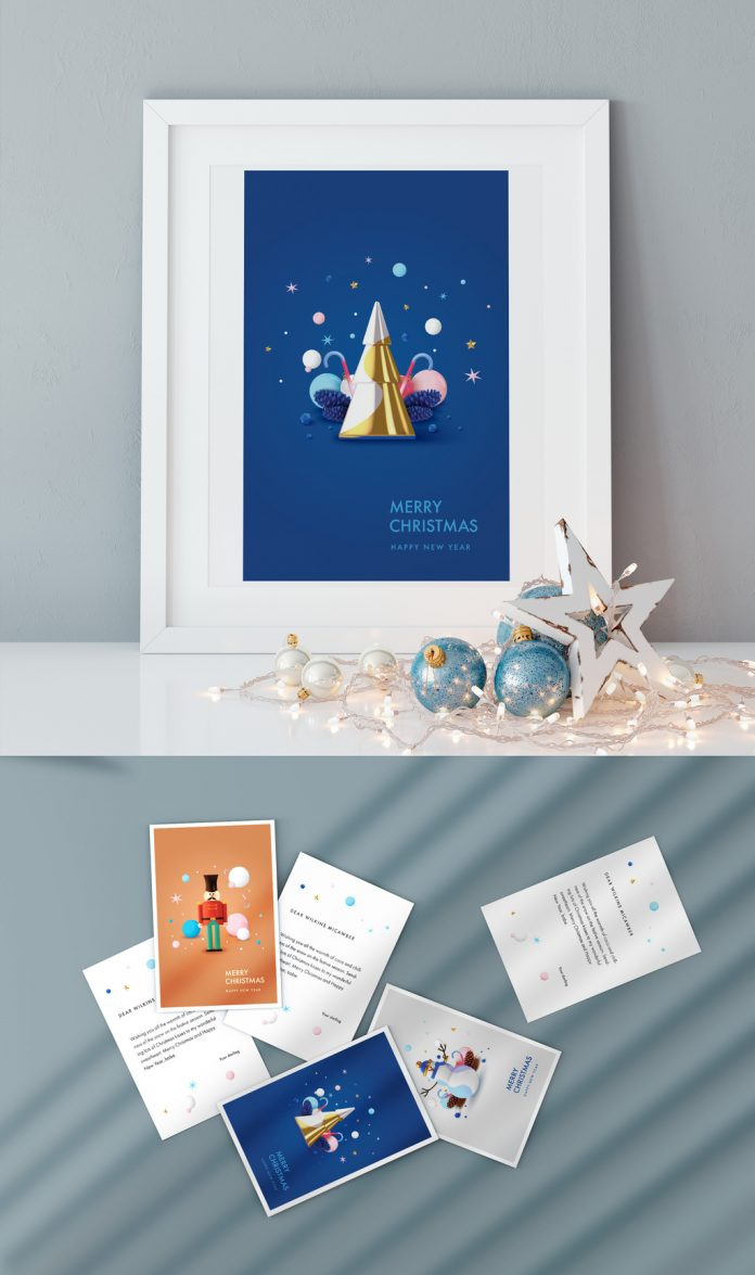 Christmas Greeting Postcard Templates