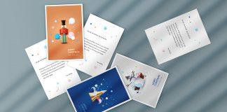 Christmas Greeting Postcard Templates