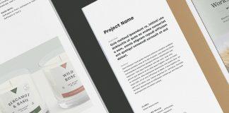 Minimalist Portfolio Brochure Template with Bold Typography