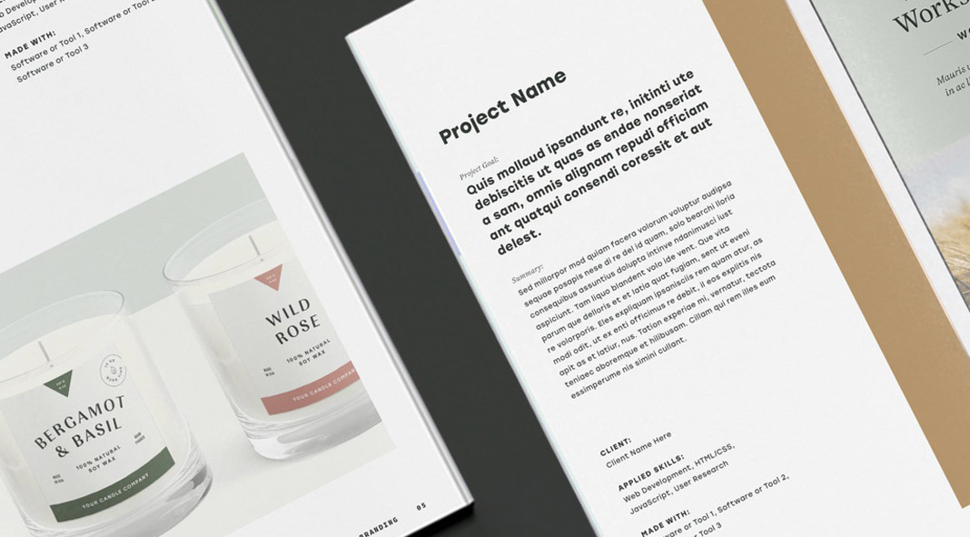 Minimalist Portfolio Brochure Template with Bold Typography