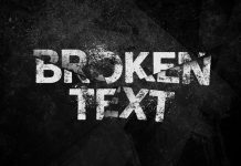 Realistic Broken Text Effect Template for Adobe Photoshop