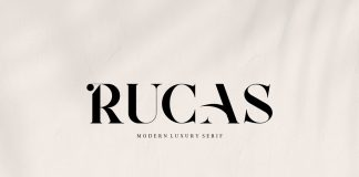 Rucas font by Vroz Studio.