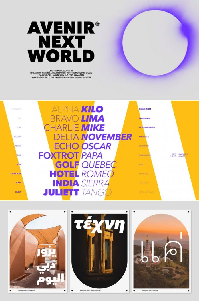Avenir Next World font family