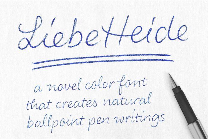 Liebe Heide Font by Liebe Fonts