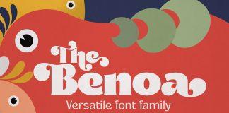 Benoa font family by creativemedialab.