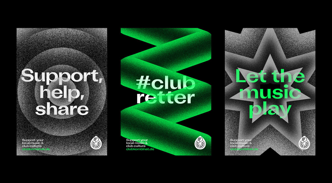 Club Goods, a product brand for Hamburg's music clubs by Eiga Design.
