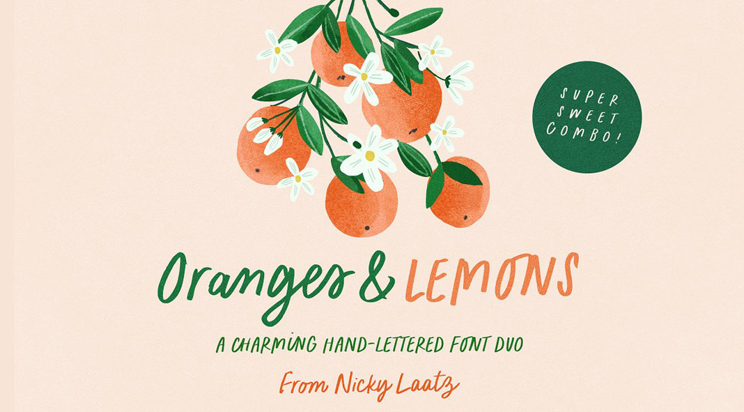 Oranges and Lemons Fonts by Nicky Laatz.
