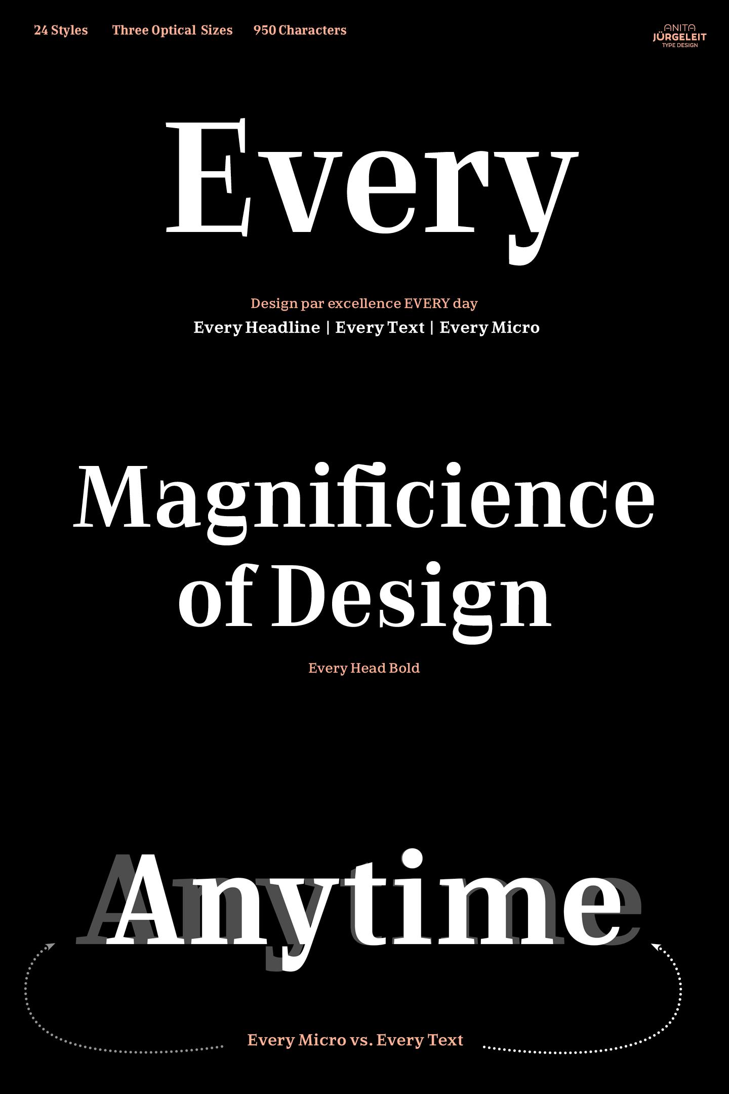 Every Font Family by Anita Jürgeleit