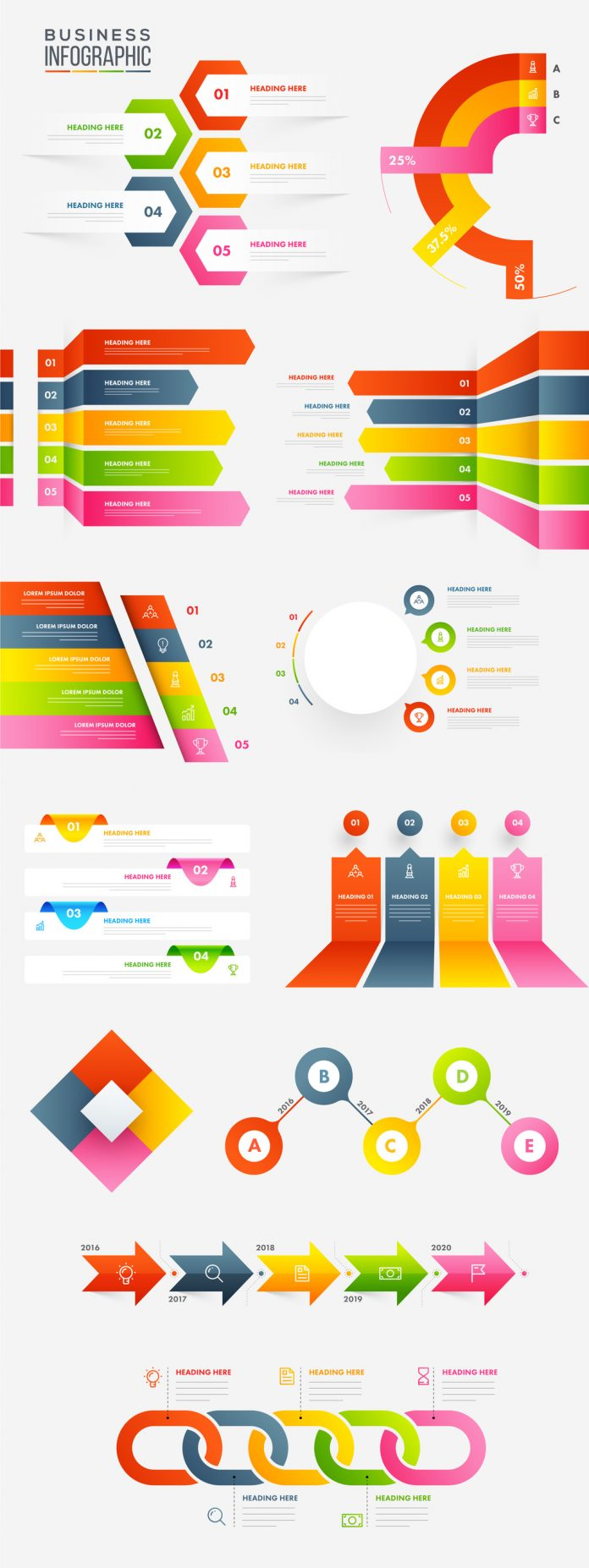 Adobe Illustrator Infographic Layouts.