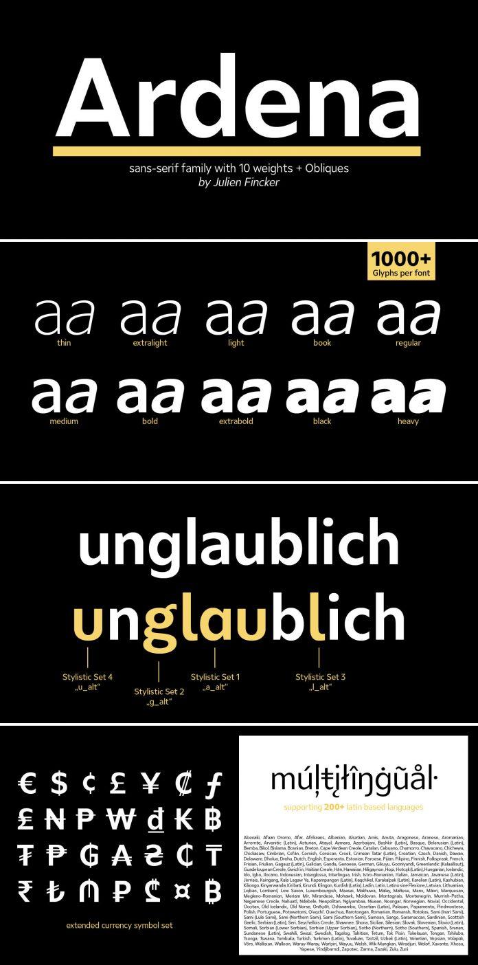 Ardena font by Julien Fincker.