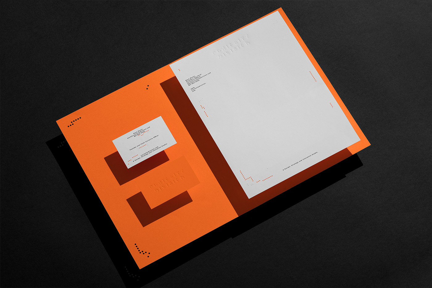 Curiosity Division Brand Identity by Anagrama Studio