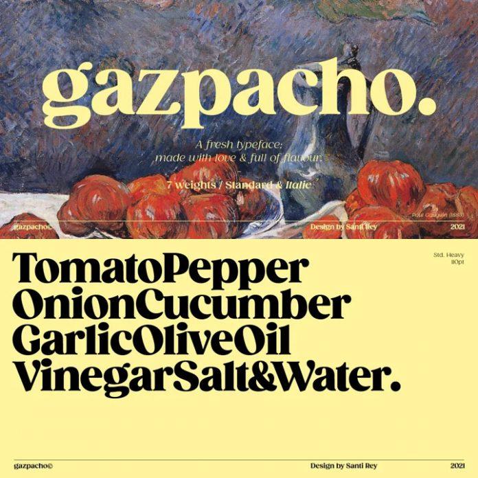 Gazpacho font family by Santi Rey.