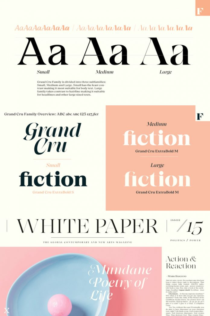 Grand Cru font family by Fenotype