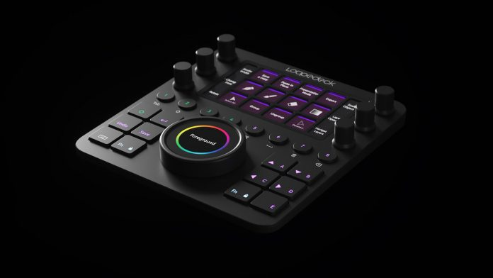 Loupedeck controller for Adobe Premiere Pro, Final Cut Pro, Photoshop, Lightroom, and Ableton Live.