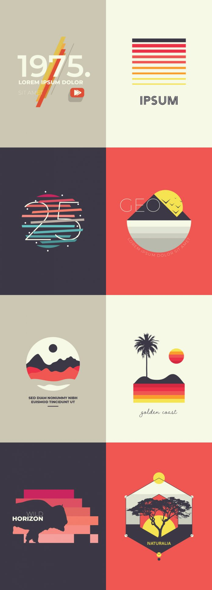 Multicolored Icon Set with Outdoor Imagery by Medialoot