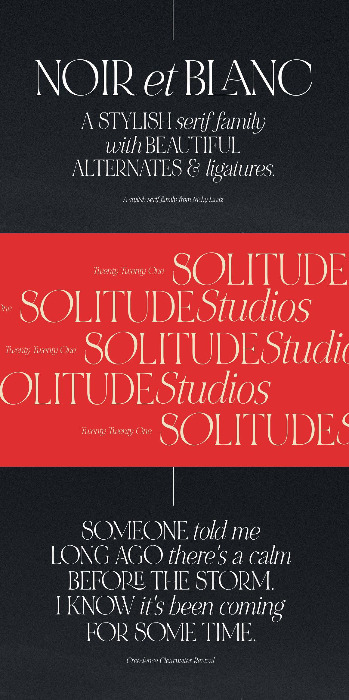 NOIR et BLANC Font Family by Nicky Laatz