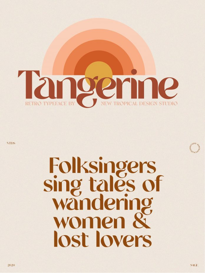 Tangerine Retro Font from New Tropical Design