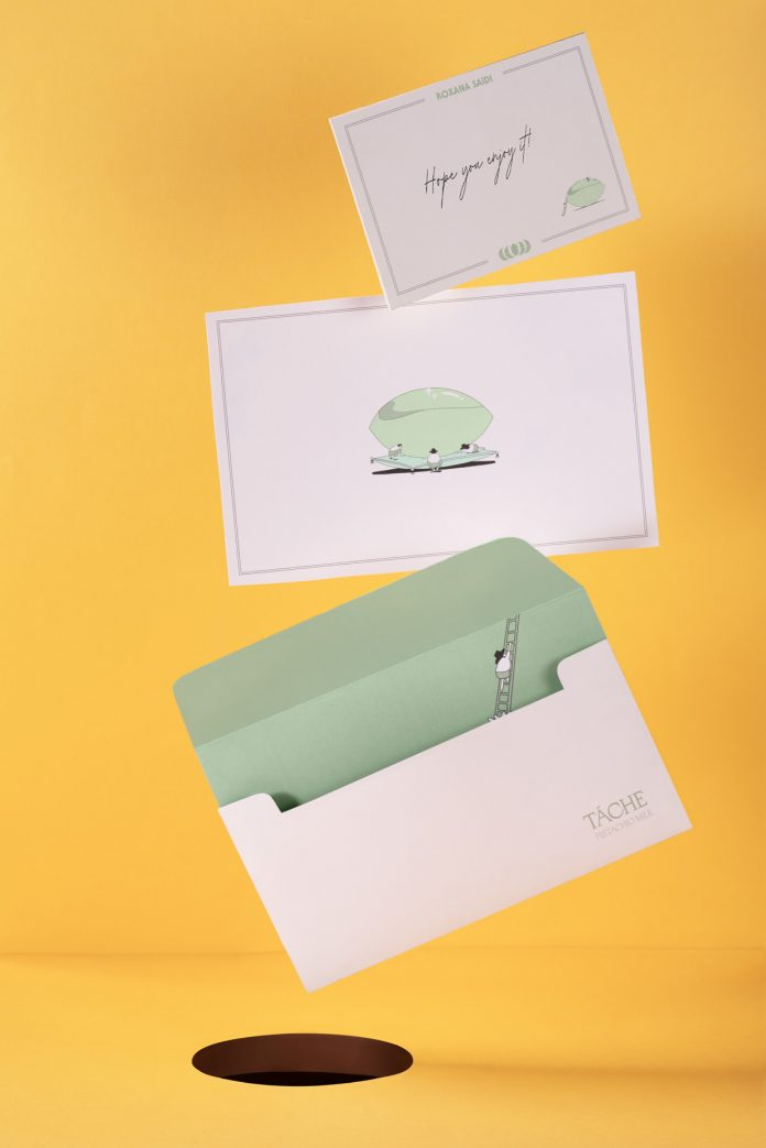 Branding case study by Futura for pistachio milk brand Táche.