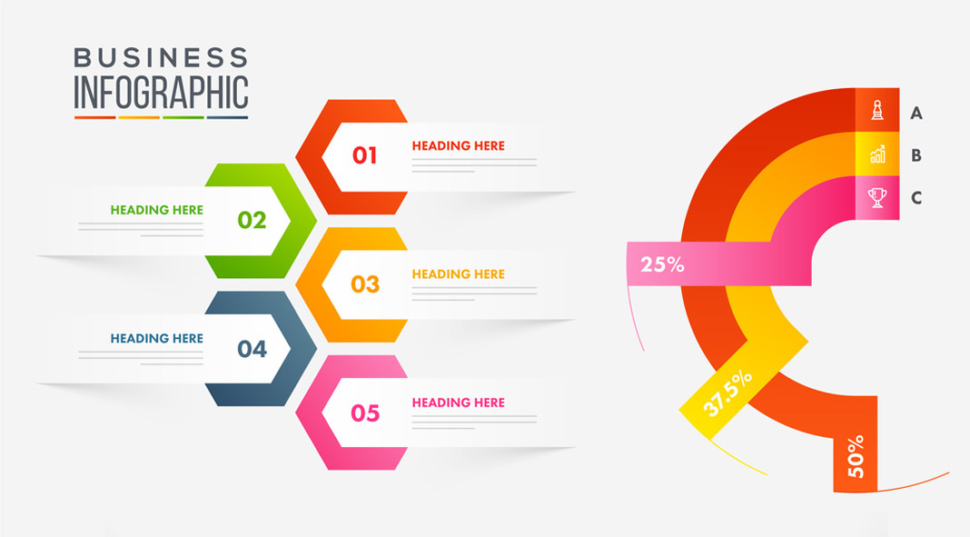 Adobe Illustrator Infographic Layouts.