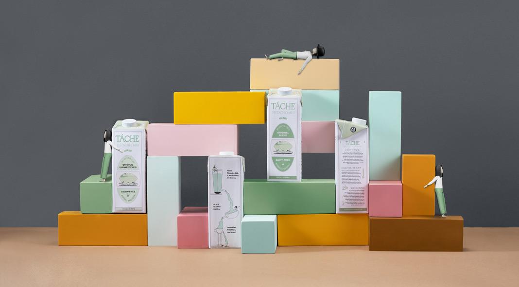 Branding case study by Futura for pistachio milk brand Táche.