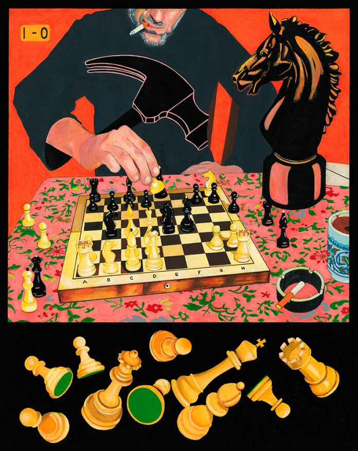 Checkmate with a Knight (Fried-Liver Attack gone wrong), Toma Vagner