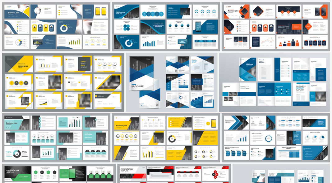 Download Company Profile Templates as Vector Graphics