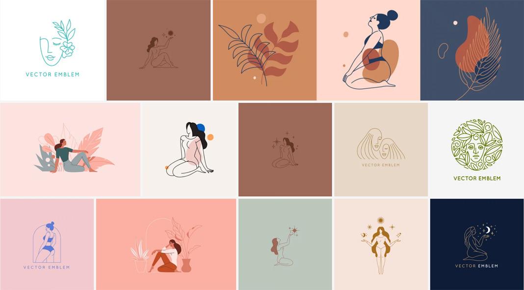 Female vector graphics