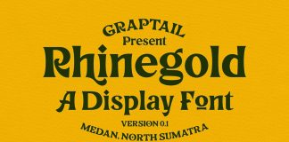 Rhinegold Display Font from Graptail