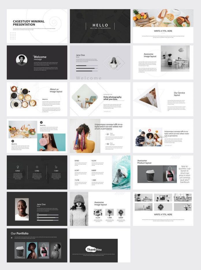 Minimal Case Study Presentation Template for Adobe InDesign