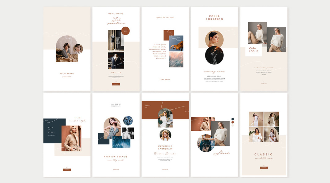 21 Fashion Social Media Story Templates.