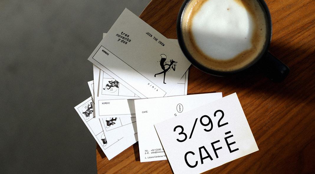 392/CAFÉ branding by Mexican graphic designer Karla Heredia Martínez.